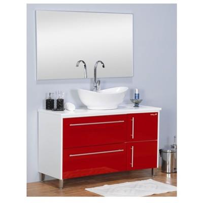 ארון אמבטיה אדום