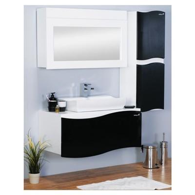 ארון אמבטיה שחור