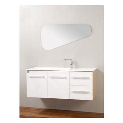 ארון יוקרתי עשוי במבוק (עמידות מלאה למים) חזית עץ מלא בצבע במבוק טבעי או צבוע לבן פרזול טריקה שקטה כיור זכוכית מעוצב בצורה תואמת למראה
