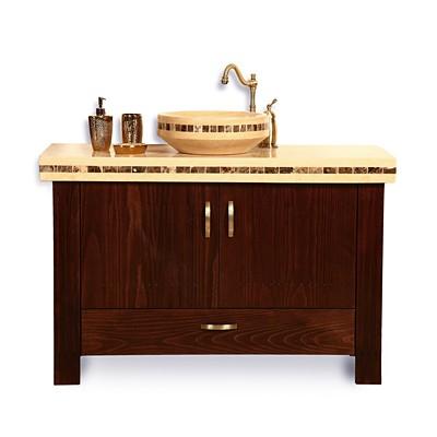 הריטאז' 120 ונגה עץ מלא ארון אמבטיה עומד