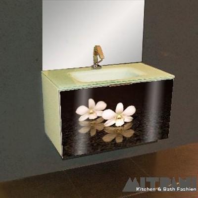 ארונות אמבטיה תלויים זכוכית מודפסת