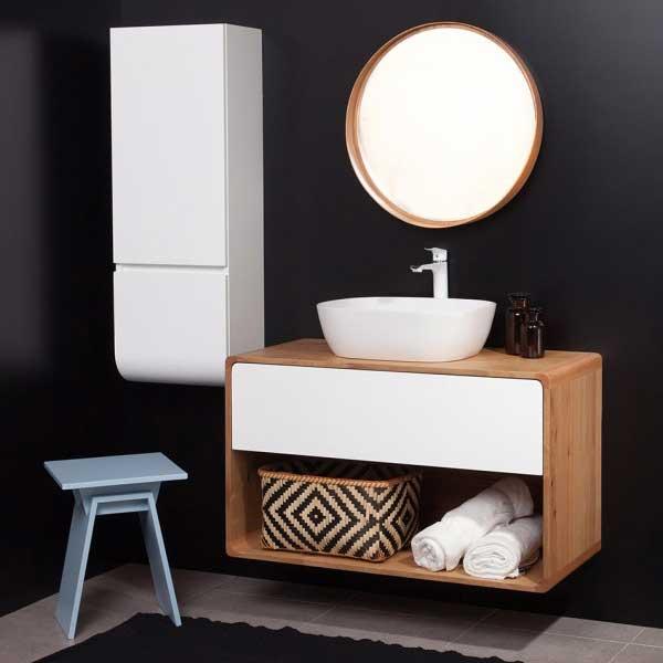 ארון אמבטיה תלוי ווד קליר – גוף עץ מלא