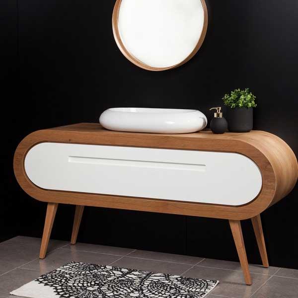 ארון אמבט מעוגל קפסולה Happy